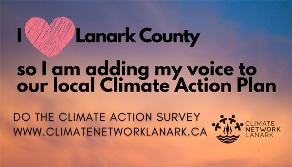 Lanark County Climate Action Survey — Add Your Voice!